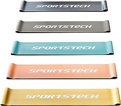 Sportstech Fitnessbanden, 5-delige loopset, fitnessband incl. tas + poster, thuis, elastiek voor spieropbouw en afvallen, ...