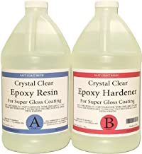 EPOXY Resin Crystal Clear 1 Gallon Kit. for Super Gloss Coating and TABLETOPS