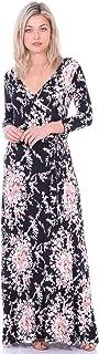 Popana Maxi Vestido con Mangas Casual Colorful Summer Beach Impresiones Florales-Fabricado en EE. UU.