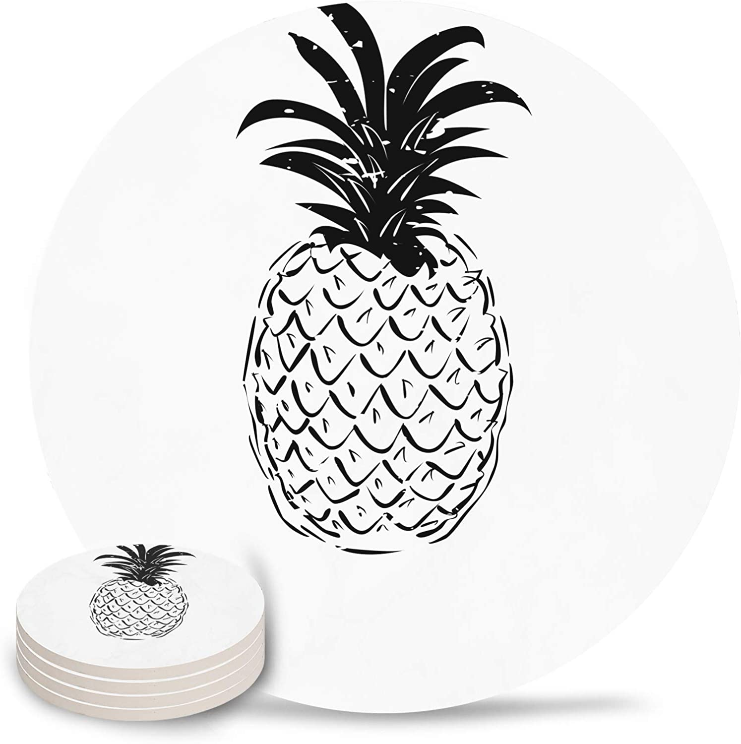 Fruit Coasters Sale price for Drinks Absorbent Ceramic 4-Piece Coaster Ranking TOP20 Set