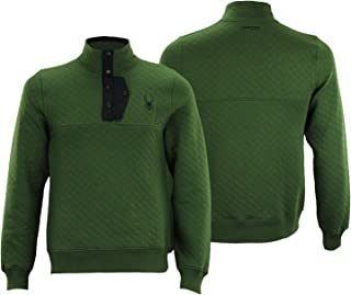Men's Quilted Pullover Fleece Sweater, Color Variation