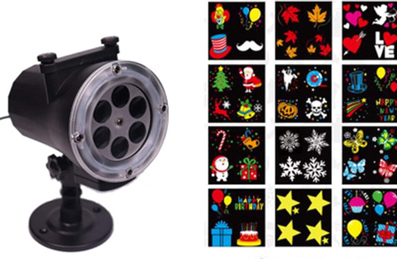 Xihongshi Led Festival Highlights Film Karte Projektionslampe Outdoor Highlight Muster Film Schneeflocke Projektionslampe