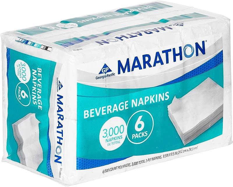 Marathon Beverage Napkin 1 4 Fold 3 000 Napkins
