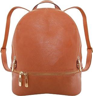 حقيبة ظهر أنيقة من الجلد النباتي من Humble Chic حقيبة صغيرة مناسبة للسفر المدرسية حقيبة الكتب