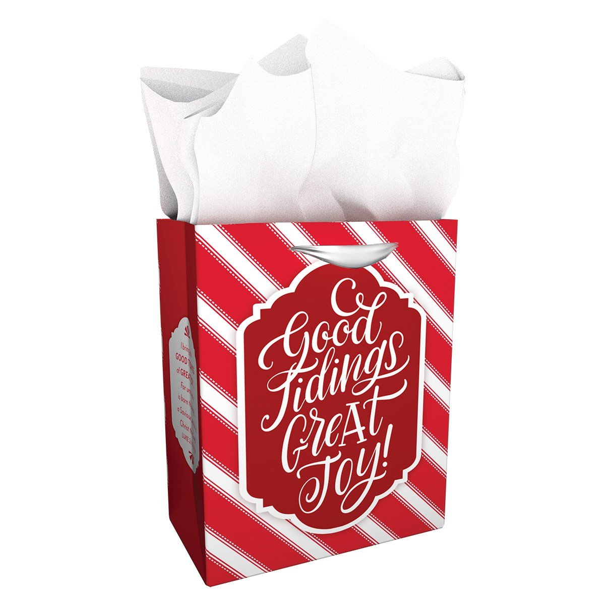 Medium Specialty Gift Bag - Christmas - Candy Cane