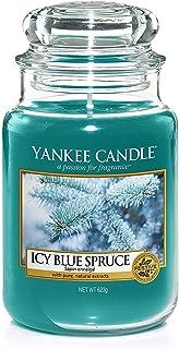 Yankee Candle Bougie Jarre Parfumée, Grande Taille, Sapin Enneigé, jusqu'à 150Heures de Combustion
