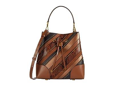 MICHAEL Michael Kors Mercer Gallery Medium Convertible Bucket Shoulder (Luggage Multi) Handbags