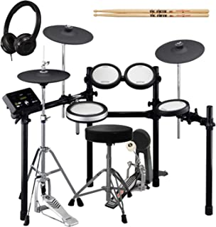 Yamaha DTX562K Electronic Drum Kit with Bass Drum Pedal, Adjustable Height Drum Throne, On-Ear Stereo Headphones, and a Pair of Vic Firth 5A Drumsticks