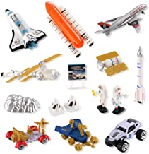 Liberty Imports Mission to Mars Space Shuttle Playset for Kids with Rockets, Satellites, Rovers & Vehicles