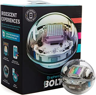 Sphero BOLT: App-Enabled Robot Ball with Programmable Sensors + LED Matrix, Infrared & Compass - STEM Educational Toy for ...