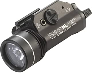 Streamlight 69260 TLR-1 HL Weapon Mount Tactical Flashlight Light 800 Lumens with Strobe (Renewed)