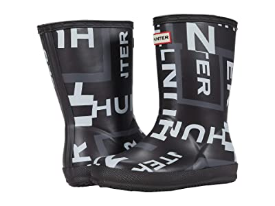 Hunter Kids First Classic Exploded Logo Boots (Toddler/Little Kid) (Onyx Exploded Logo) Kid