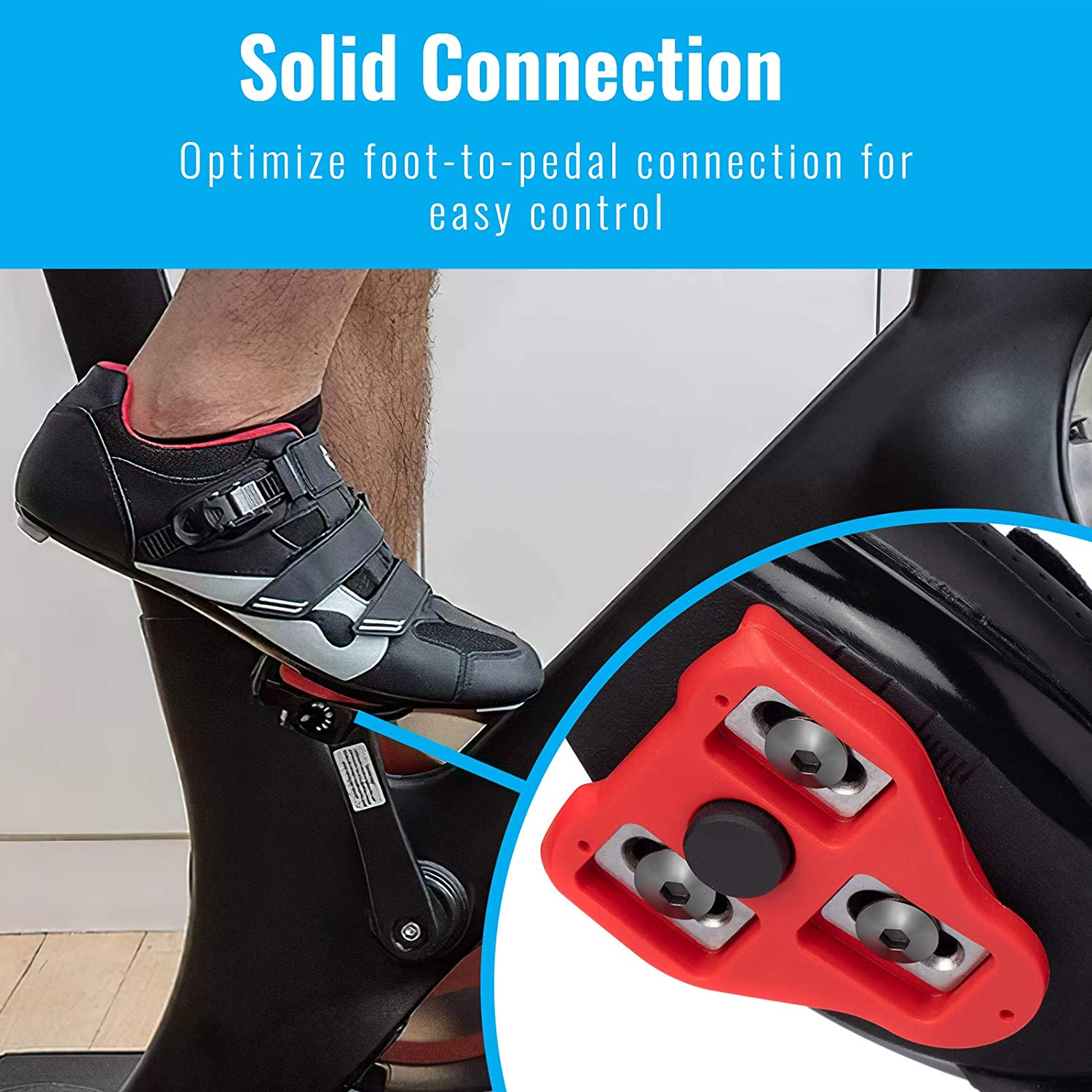 beroy Bike Cleats Compatible with Look Delta 9 Degree Float Indoor Cycling Road Bikes Bicycle Cleat Set