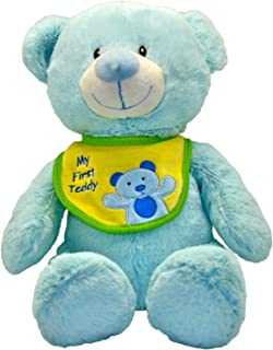 Wild Planet K7535 Bear with Bib Assorted Cute Friends Plush Toy, 36 cm, Multi-Color