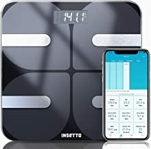 INSETTO Smart Body Fat Scale, 11.8 inch Digital Bathroom Scales for Body Weight and BMI for People, Analyzer with Smartpho...