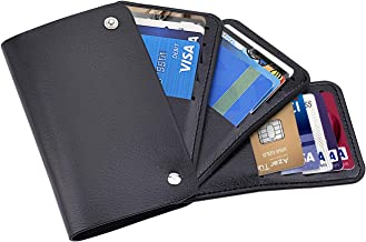 Minimalist Slim Wallets for Men with 30 Card Slots, PU Leather Front Pocket Wallets, Thin Credit Card Holder Wallet