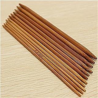Des aiguilles à tricoter 55pcs / Set Crochet crochets Double bricolage bricolage bambou de bambou droit à tricoter à trico...