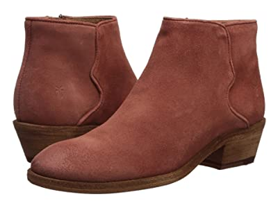 Frye Carson Piping Bootie (Rosewood Oiled Suede) Women