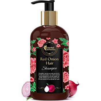 Oriental Botanics Red Onion Hair Shampoo, 300ml - With Red Onion Oil, 27 Botanical Actives, Biotin, Argan Oil, Caffeine, Protein, Controls Hair Loss & Supports Healthy Hair Growth