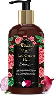 Oriental Botanics Red Onion Hair Shampoo, 300ml - With Biotin, Argan Oil, Caffeine, Protein, 27 Hair Boosters Controls Hair Loss & Promotes Healthy Hair Growth