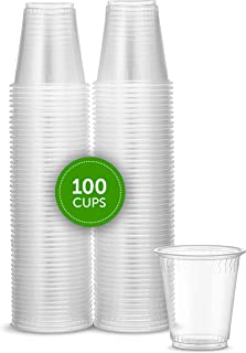 Plasticpro 3 oz Disposable Plasic Clear Drinking Cups [100 Count]