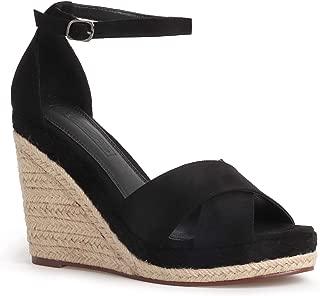 Women's Wedge Sandals Casual Open Toe Ankle Strap Espadrilles Heels