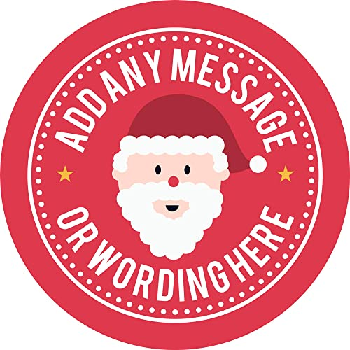 48 x Personalised Christmas Stickers Santa Father Christmas Present Labels 1101