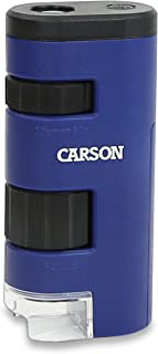 Carson Pocket Micro 20x-60x LED Lighted Zoom Field Microscope with Aspheric Lens System (MM-450)