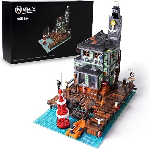 discount Nifeliz Fishing Village Dive outlet online sale Shop MOC Building Blocks kit - Construction Set to Build, Model Set and Assembly Toy sale for Teens and Adult,New 2021(2361Pcs) online