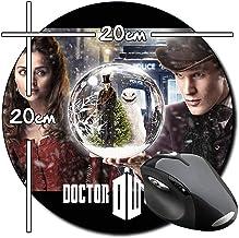 Doctor Who Matt Smith Jenna Louise Coleman Alfombrilla Redonda Round Mousepad PC