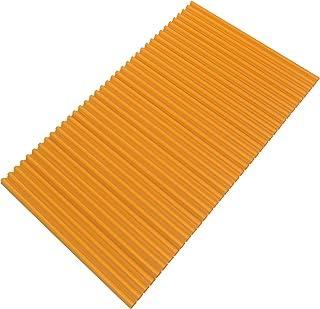 東プレ 風呂ふた 抗菌タイプ シャッター式 カラーイージーウェーブ 70×110cm オレンジ M11