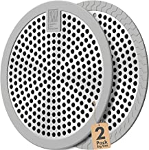 Shower Drain Hair Catcher / Bathtub Drain Cover/Drain Protector/Stainless Steel+Silicone/for Bathroom & Kitchen(2pack/4.5i...