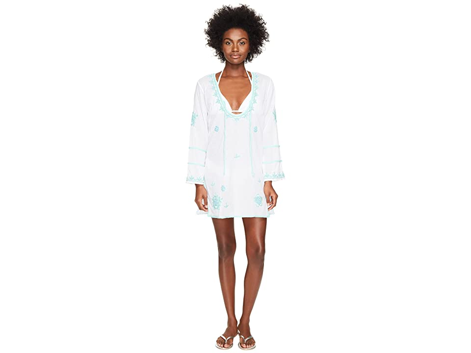 Letarte Embroidered Cover-Up (White Multi) Women