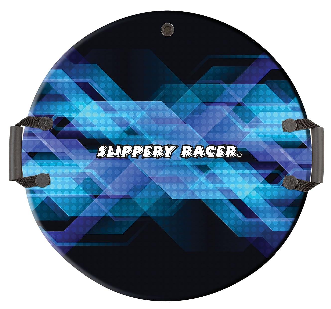 Slippery Racer Downhill Zeus Foam Saucer Snow Sled, Midnight Hologram