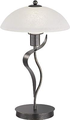 Fischer & Honsel 50192 Lampe de table, Métal, 40 W, Rouille, 30 x 30 x 49 cm (LxBxH)