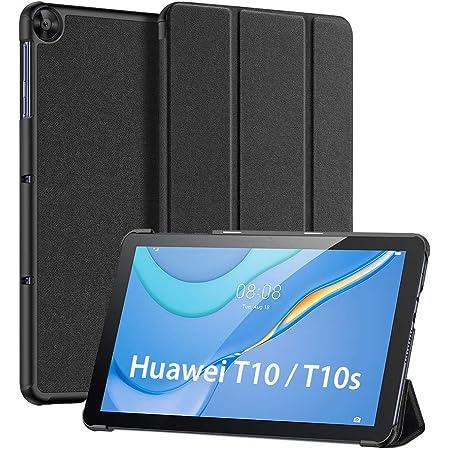 "DUX DUCIS Custodia Cover per Huawei MatePad T10 / T10s 2020, Magnetica Pelle Coperchio Sottile Leggera Cover Custodia per T10s 10.1"" AGS3-L09 AGS3-W09 / T10 9.7"" AGR-L09 AGR-W09 (Nero)"