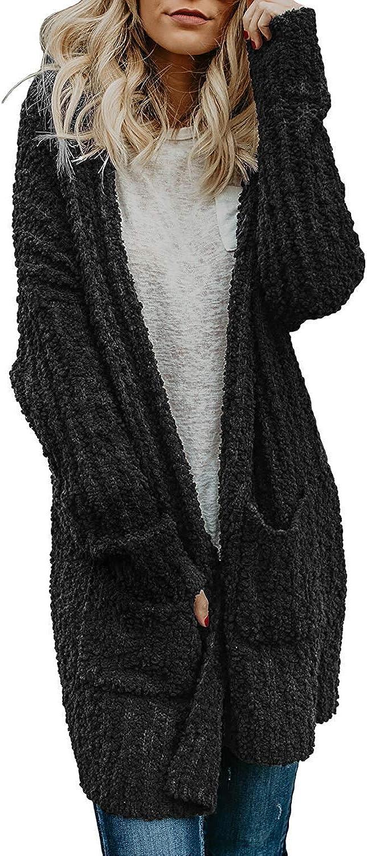 KKJim Women's Long Sleeve Open Front Cardigans Sweaters Outwear Plus Size SXXL