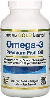 Omega 3 أوميجا 3 زيت سمك ممتاز، 100 كبسولة هلامية جيلاتينية من السمك