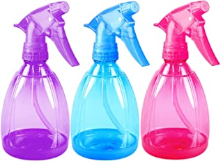 Pack of 3-12 Oz Empty Plastic Spray Bottles - Attractive Vibrant Colors - Multi Purpose Use Durable BPA Free Material