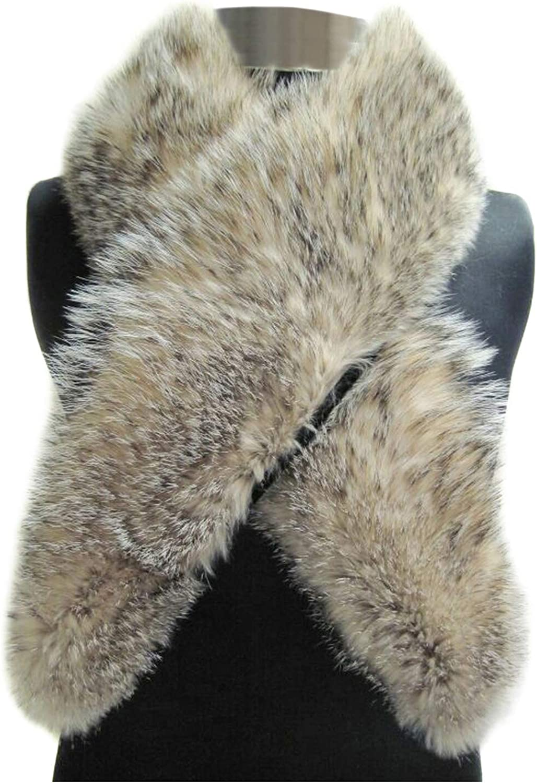 FursNewYork Badger Fur Clip Collar