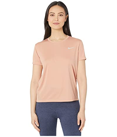 Nike Miler Top Short Sleeve (Rose Gold/Reflective Silver) Women
