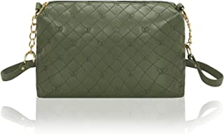 Women'S Quilted Pu Leather Crossbody Bag Girls Purse Shoulder Handbag With Chain Strap