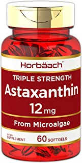 Triple Strength Astaxanthin 12mg Softgels | 60 Count | Non-GMO & Gluten Free | by Horbaach