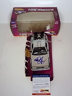 Michael J Fox Back To The Future Signed Autograph Delorean Model Car PSA/DNA COA