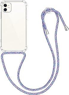 kwmobile telefoonhoesje compatibel met Apple iPhone 11 - Hoesje met koord - Back cover in transparant/lavendel/paars/wit