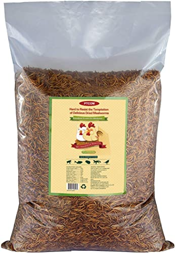 10lbs Bulk Non-GMO Dried Mealworms for Reptile , Tortoise ; Amphibian ,Lizard ;Wild Birds; Chichens; Duck etc