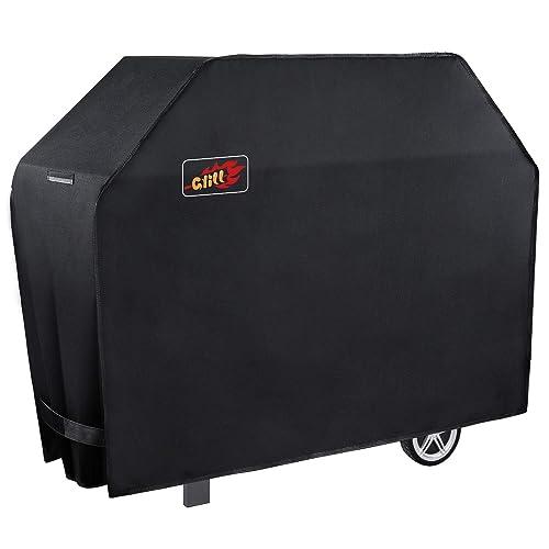 Housse Barbecue (147*61*122cm), HOMASY Couverture de Barbecue 600D BBQ Couverture de Gril Convient aux Weber, Brinkmann, Char Broil etc, Résistant aux UV, à l'Eau et aux Larmes, Garantie à Vie