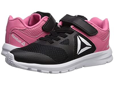 Reebok Kids Rush Runner Alt (Little Kid) (Black/Pink) Girls Shoes