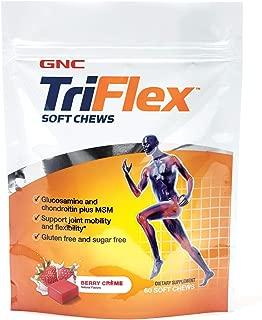 GNC TriFlex Soft Chews, Berry Creme, 60 Soft Chews, Supports Joint Health