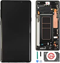 schicj133mm AMOLED LCD Display Touch Screen Digitizer Replacement with Frame for Samsung Galaxy Note 9 N960U N960F, with Tools and Adhesive Black Without Frame